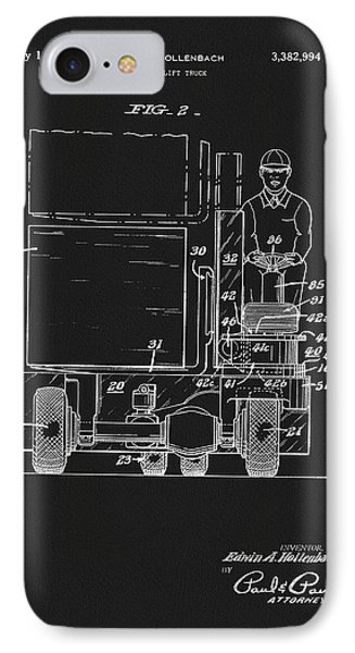 1968 Forklift Patent IPhone Case by Dan Sproul