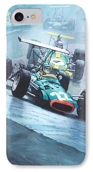 1968 German Gp Nurburgring  IPhone Case by Yuriy Shevchuk