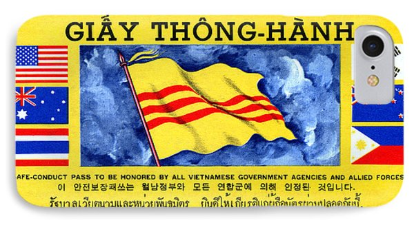 IPhone Case featuring the painting 1968 Vietnam War Safe Conduct Pass by Historic Image