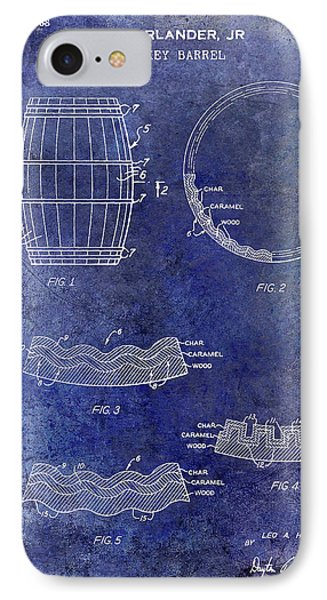 1968 Whiskey Barrel Patent Blue IPhone Case