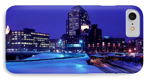 IPhone Case featuring the photograph  1969 Boston Twilight by Historic Image