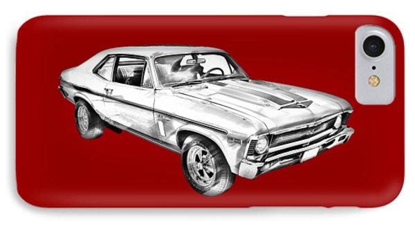 1969 Chevrolet Nova Yenko 427 Muscle Car Illustration IPhone Case