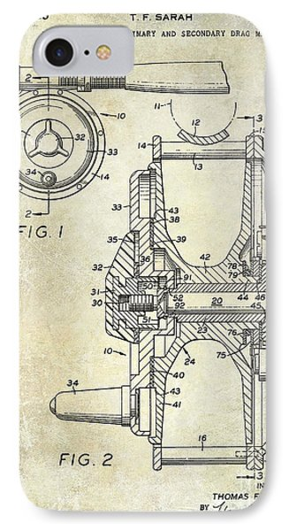 1969 Fly Reel Patent IPhone 7 Case