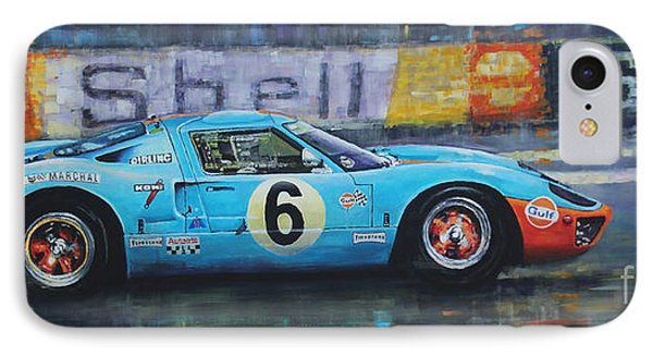 1969 Le Mans 24 Ford Gt40 Jacky Ickx Jackie Oliver Winner Phone Case by Yuriy Shevchuk