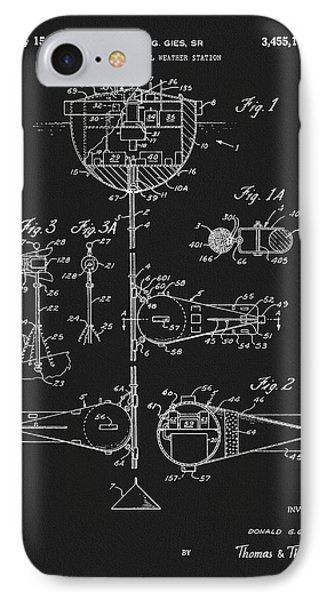 1969 Nautical Weather Station Patent IPhone Case by Dan Sproul