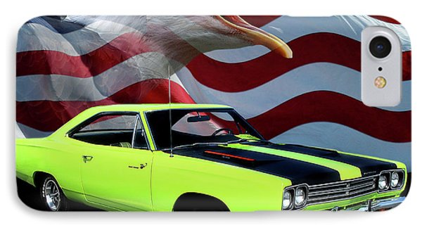 1969 Plymouth Road Runner Tribute IPhone Case by Peter Piatt