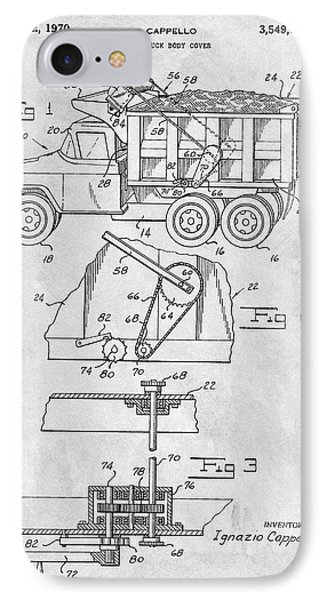 1970 Dump Truck Cover Patent IPhone Case by Dan Sproul