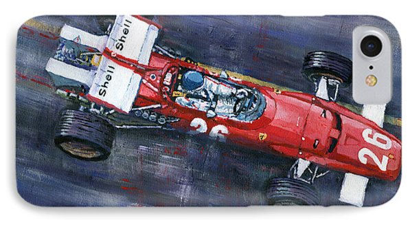 1970 Monaco Gp Ferrari 312 B Jacky Ickx  IPhone Case by Yuriy Shevchuk