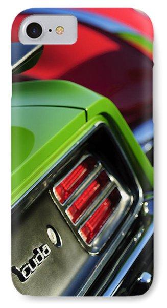 1970 Plymouth Barracuda Cuda Taillight Emblem Phone Case by Jill Reger