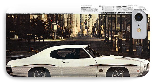 1970 Pontiac Gto The Judge  Phone Case by Digital Repro Depot