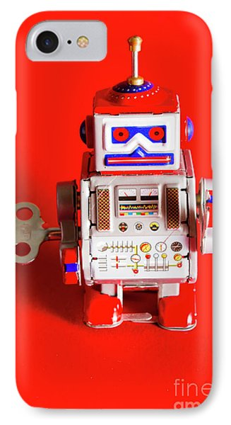 1970s Wind Up Dancing Robot IPhone Case by Jorgo Photography - Wall Art Gallery