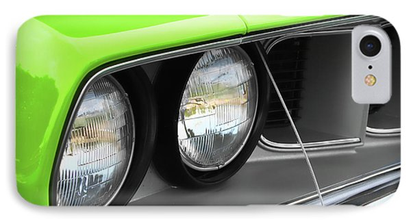 1971 Plymouth Barracuda Cuda Sublime Green Phone Case by Gordon Dean II