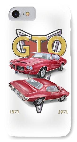1971 Pontiac Gto IPhone Case by Thomas J Herring