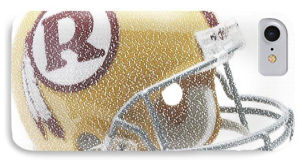 1971 Redskins Helmet Greatest Players Mosaic Phone Case by Paul Van Scott