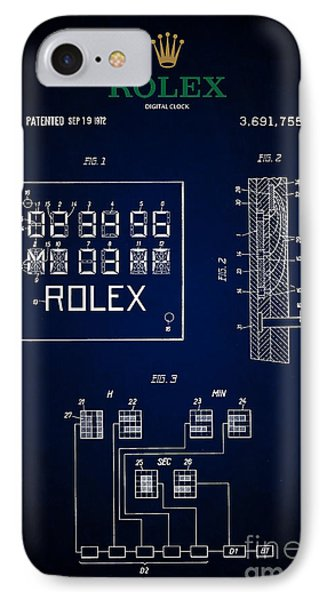 1972 Rolex Digital Clock Patent 5 IPhone Case by Nishanth Gopinathan