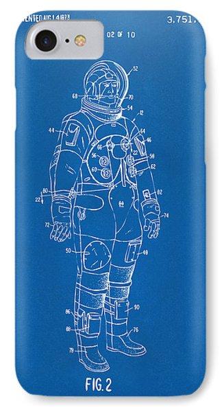 1973 Astronaut Space Suit Patent Artwork - Blueprint IPhone 7 Case by Nikki Marie Smith