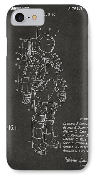 1973 Space Suit Patent Inventors Artwork - Gray IPhone 7 Case