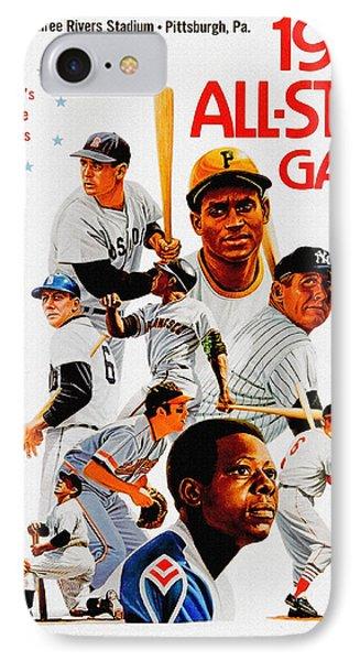 1974 Baseball All Star Game Program IPhone 7 Case