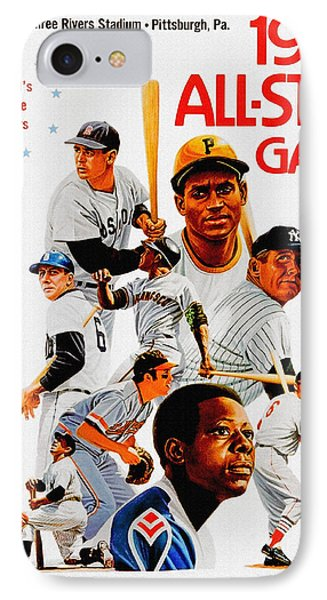 1974 Baseball All Star Game Program IPhone Case
