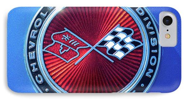 1974 Corvette Sting Ray Convertible Emblem IPhone Case by Jill Reger