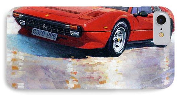 1982-1985 Ferrari 308 Gts IPhone Case by Yuriy Shevchuk