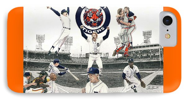 1984 Detroit Tigers IPhone Case by Chris Brown