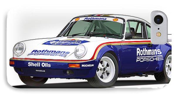 1984 Porsche 911 Sc Rs Illustration IPhone Case by Alain Jamar