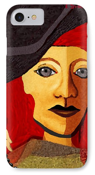 199  -  Her Sad Eyes IPhone Case by Irmgard Schoendorf Welch
