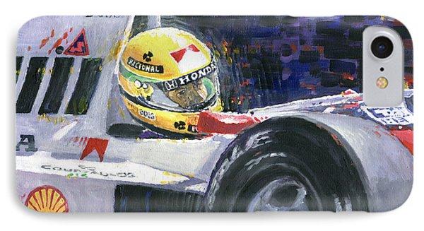1990 Mclaren Honda Mp4 5b Ayrton Senna World Champion IPhone Case by Yuriy Shevchuk