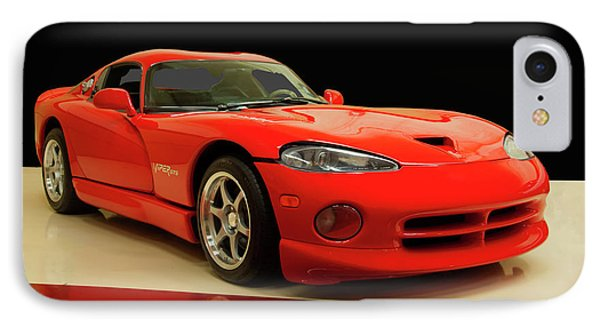 IPhone Case featuring the digital art 1997 Dodge Viper Gts Red by Chris Flees