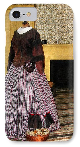 19th Century Plaid Dress Phone Case by Susan Savad
