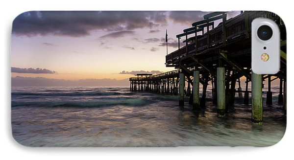 1st Dawn Cocoa Pier IPhone Case by Jennifer White