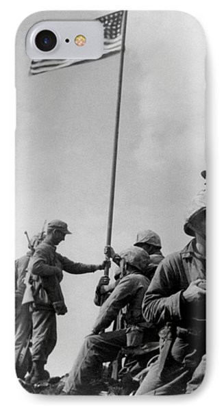 1st Flag Raising On Iwo Jima  IPhone Case