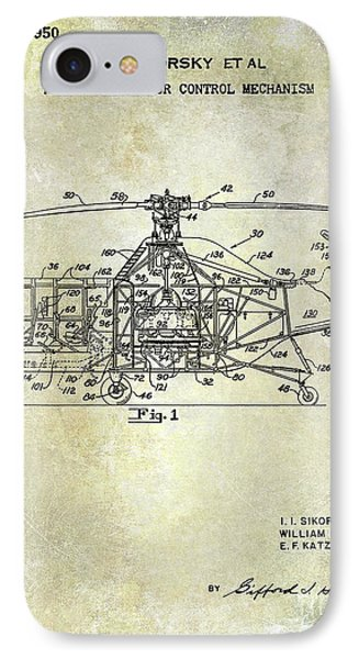 1950 Helicopter Patent IPhone Case by Jon Neidert