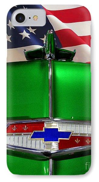 1954 Chevrolet Hood Emblem Phone Case by Peter Piatt