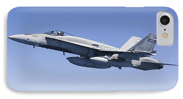 A Cf-188a Hornet Of The Royal Canadian Phone Case by Gert Kromhout