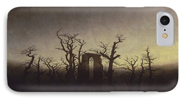 Abbey Among Oak Trees IPhone Case by Caspar David Friedrich