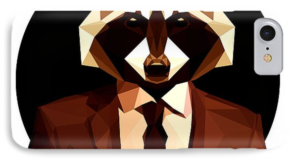 Abstract Geometric Raccoon IPhone Case by Gallini Design