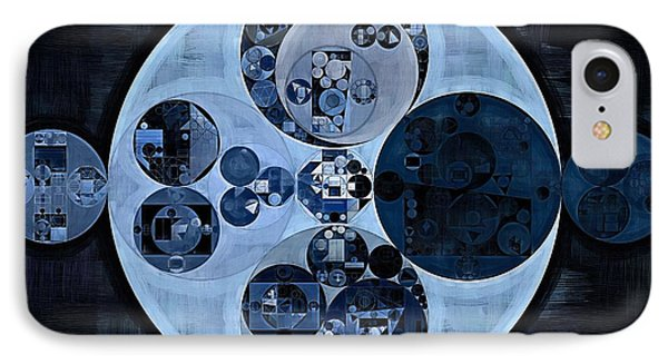 IPhone Case featuring the digital art Abstract Painting - Polo Blue by Vitaliy Gladkiy