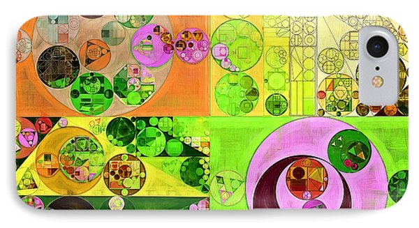 Abstract Painting - Turtle Green IPhone Case by Vitaliy Gladkiy