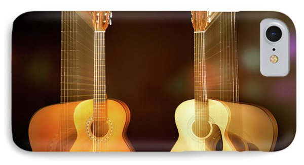 Acoustic Overtone IPhone Case by Leland D Howard