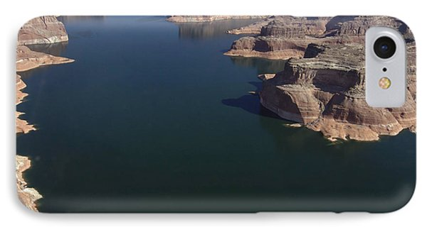 Aerial View Of Lake Powell Phone Case by Carl Purcell