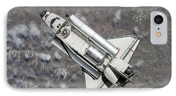 Aerial View Of Space Shuttle Discovery IPhone Case by Stocktrek Images