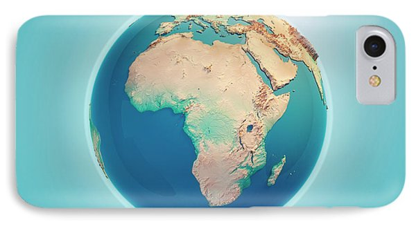 Africa 3d Render Planet Earth IPhone Case