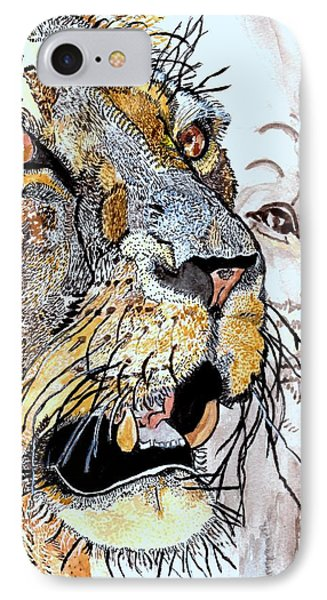 Always The King IPhone Case by Connie Valasco