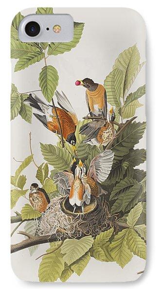 American Robin IPhone Case by John James Audubon