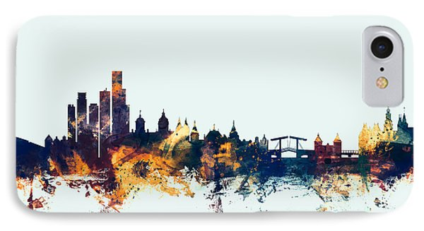 Amsterdam The Netherlands Skyline IPhone Case by Michael Tompsett