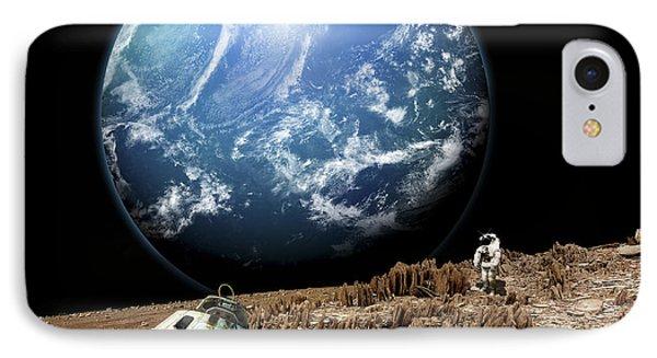 An Astronaut Surveys His Situation IPhone Case