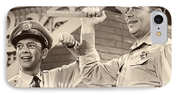 Andy Griffith And Don Knotts 1970 IPhone Case by Mountain Dreams