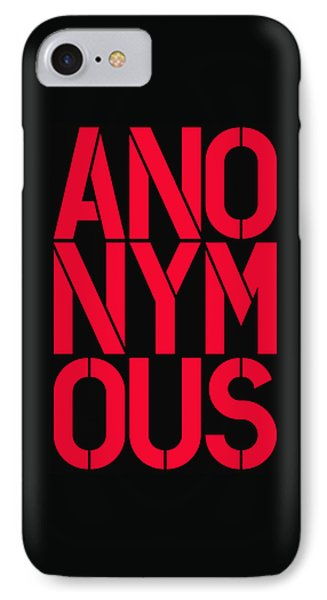 Anonymous IPhone Case by Three Dots